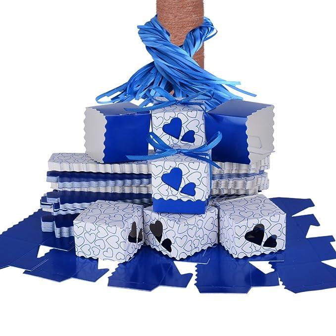127 opinioni per QUMAO (5*5*5cm) 100pz Scatole Portaconfetti di Carta incluso Nastrino Bomboniere