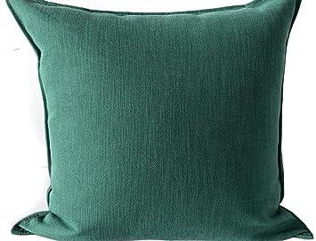 La almohada Color sólido algodón y lino sofá almohada simple ...