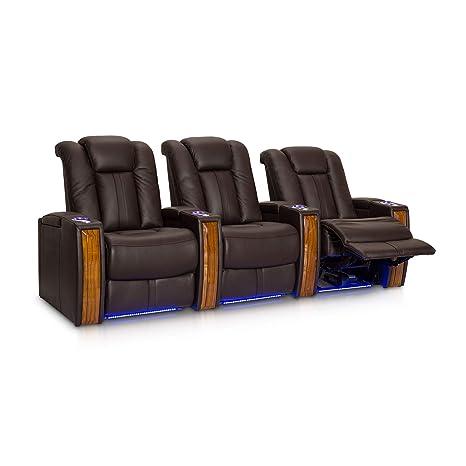 Amazon.com: seatcraft Monaco Negro piel Poder Recline Home ...