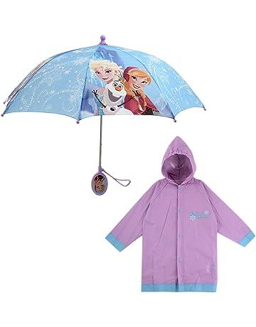 021107572 Disney Little Girls Assorted Characters Slicker and Umbrella Rainwear Set