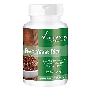 Levadura de arroz rojo - Bote para 6 MESES - 4,5 mg de monacolina