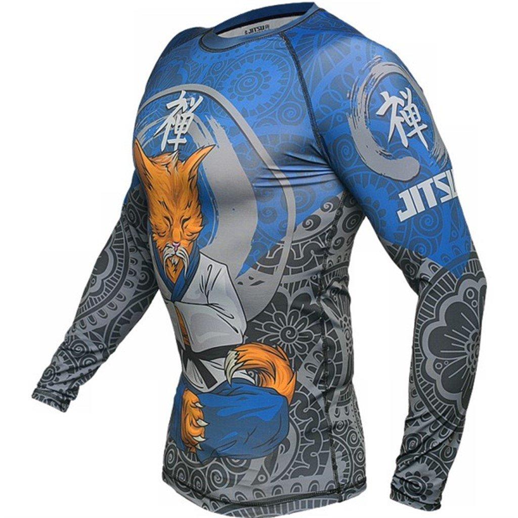 MMA Rash Guard Pro Fight UFC Cage BJJ Brazilian Jiu Jitsu Skin Compression Long