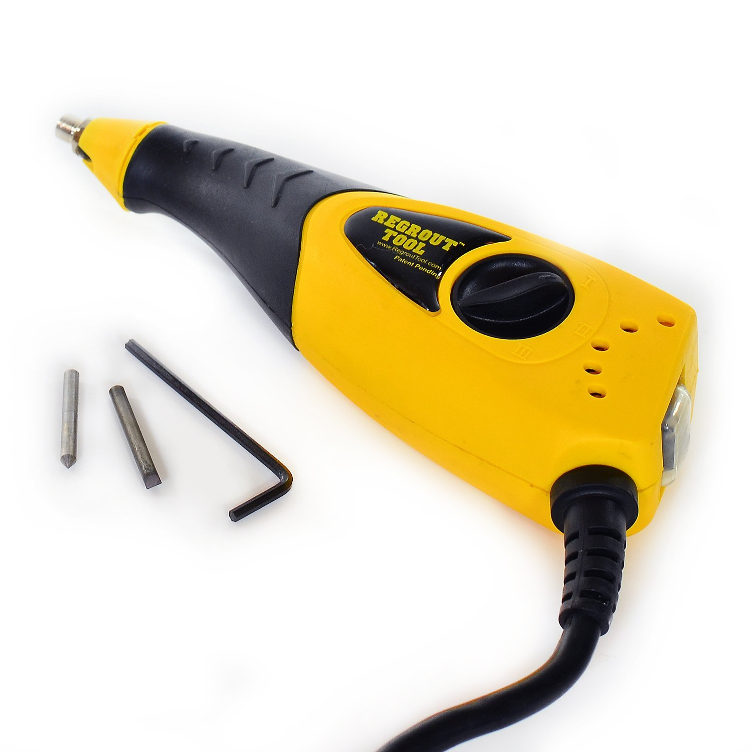 Grout Removal Tool -- Electric Variable Speed Grout Remover w/2 Carbide Tips -- Professional Series -- Grout Cleaner Alternative