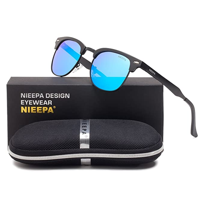 9aedce0b01 Semi Rimless Polarized Sunglasses Classic Aluminum Magnesium Frame Wayfarer  Sun Glasses Men Women Vintage Brand Designer