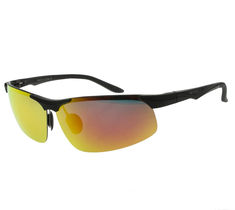 VEITHDIA Gafas de Sol Polarizadas y Gran Claridades Con TR90, Marco Irresistible y Ligero para Ciclismo, onducción de Coche, Esquí de Conducción, ...