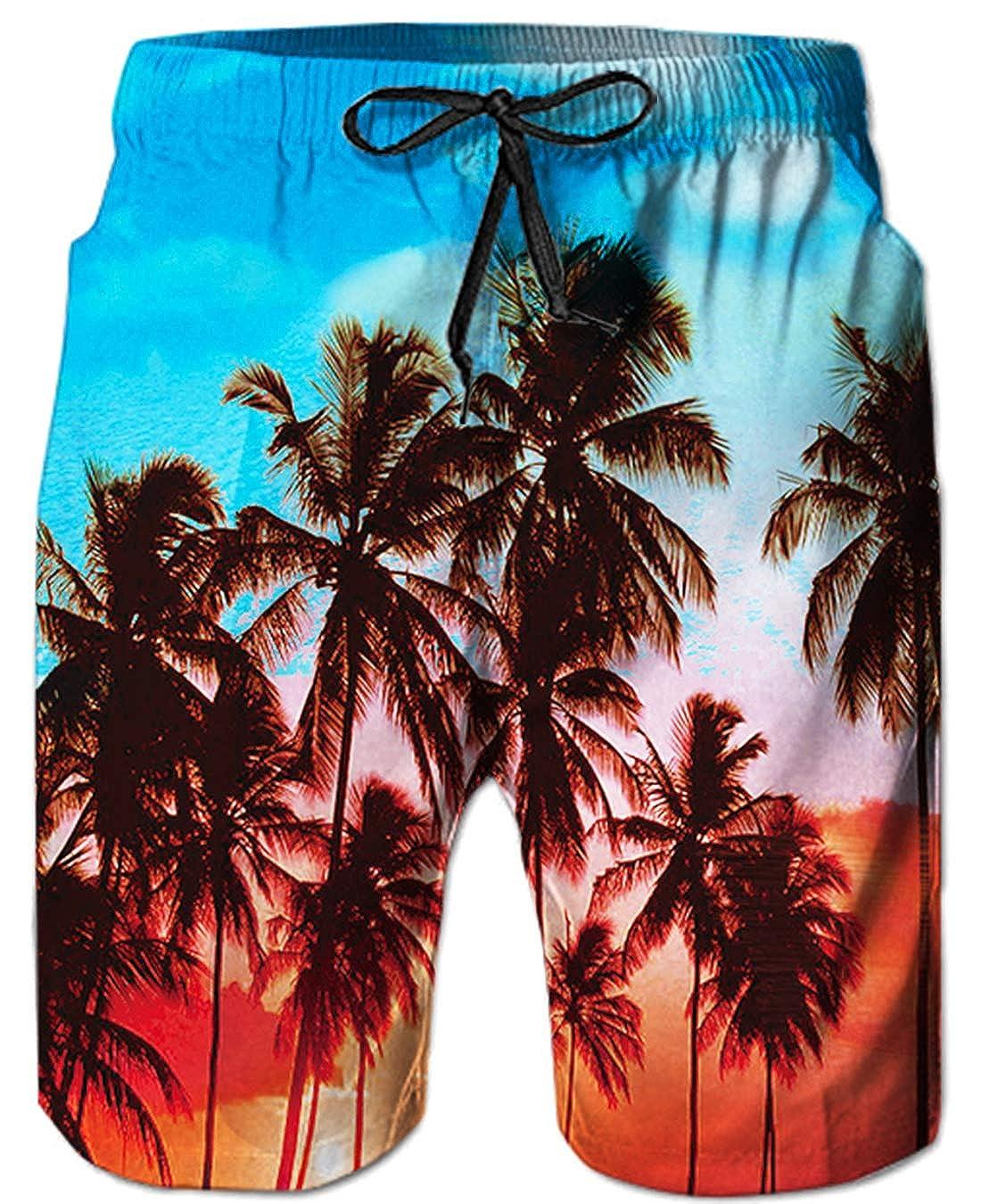 Goodstoworld Pantalones Cortos De Nataci/ón para Hombre Pantalones Cortos para Correr con Estampado 3D Troncos De Surf De Playa De Verano De Secado R/ápido S XXXL