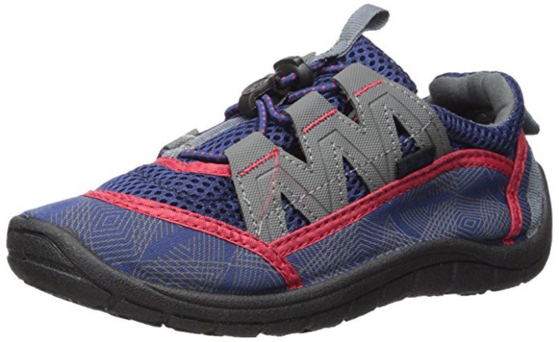 Northside Kid's Brille II Summer Water Shoe, Navy/Red, 3 M US Little Kid; with a Waterproof Wet Dry Bag