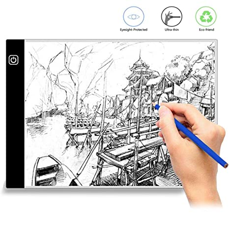 Computer Peripherals Computer & Office Graphics Tablet A4 Kids Intelligent Painting Drawing Board Led Light Box Tracing Board Copy Table Blank Pads Drawing Board Modern Design