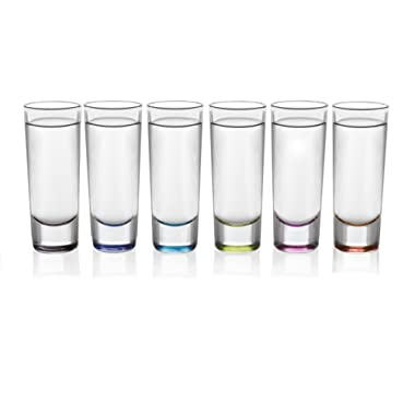 Libbey Troyano Multi-Color Shooter Glasses, Set of 6