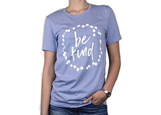 b21d9242 Bourne Southern Be Kind Women's Graphic Printed Fashion T-Shirt (Small,  Lilac Heather