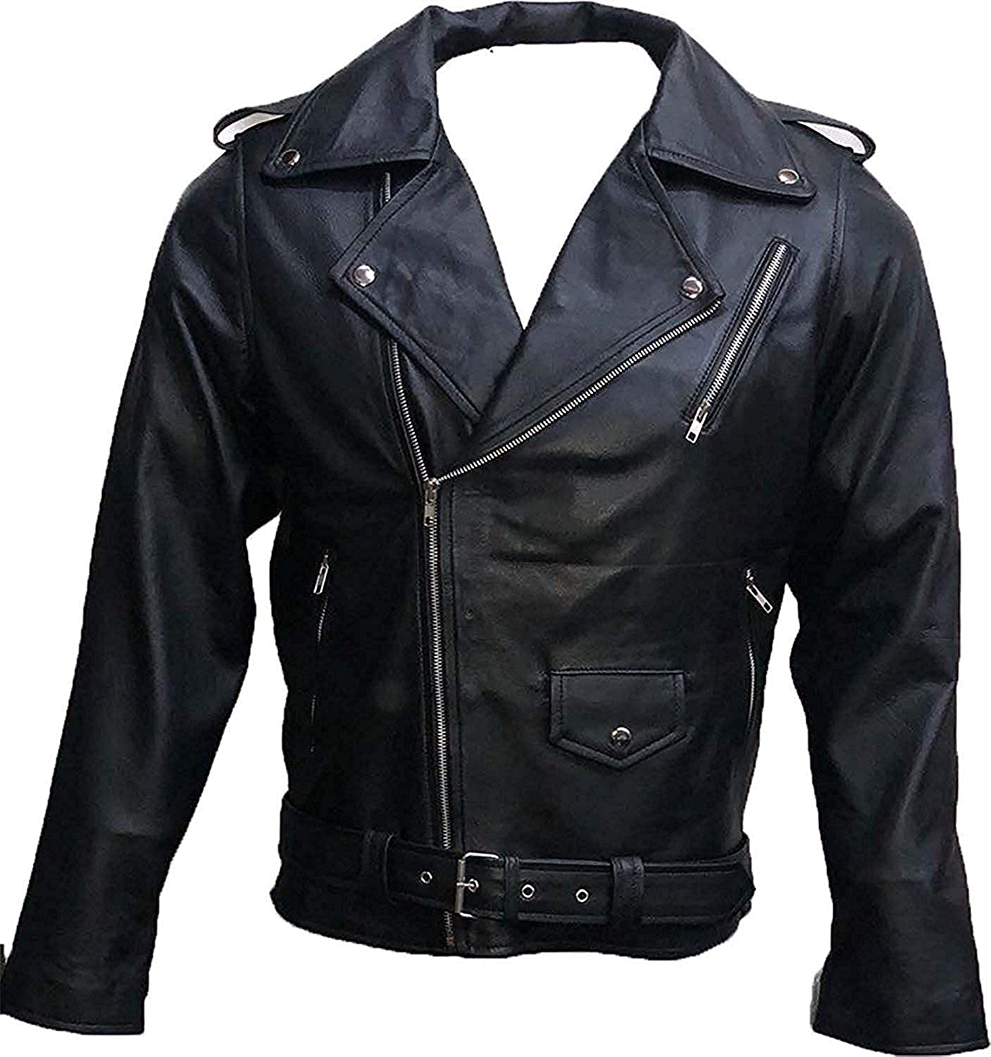 Cling Outfitters Mens Southside Black Faux Leather Jacket with Snake Gang Logo