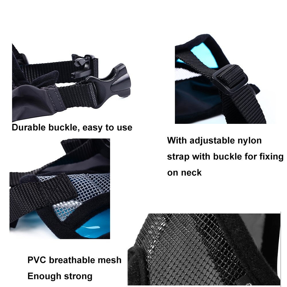 Petneces Dog Muzzles, Soft Mesh Muzzles Mouth Mask for Dog, Best to Anti Barking and Biting, Allows Nose Breath Easily(L, Grey) by Petneces (Image #2)