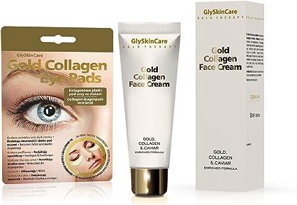Glyskincare 24 Karat Gold Collagen Caviar Anti Ageing Therapy Kit Face Cream Eye Patches 50ml Amazon Co Uk Beauty