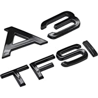 POIJK Glans Zwart A3 TFSI Achterkant Boot Badge Embleem Letters Nummers Compatibel Voor A3 Modellen