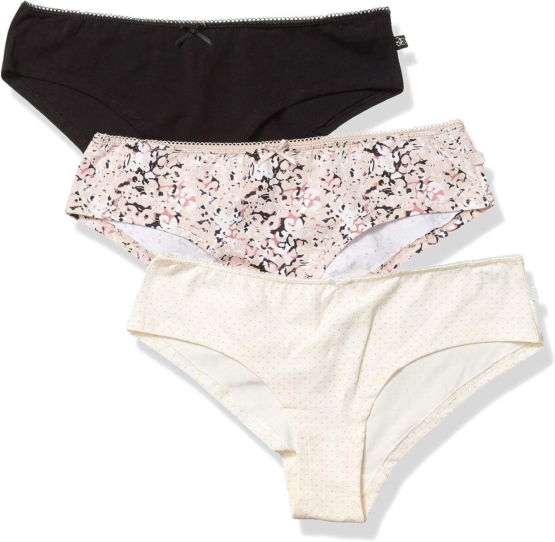 Jessica Simpson Womens Cotton Hipster Panties Underwear Multi-Pack Hipster Panties