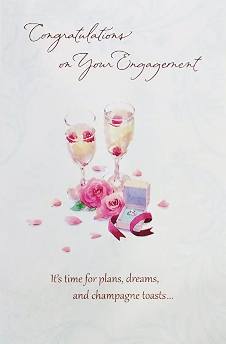 Amazon congratulations on your engagement greeting card congratulations on your engagement greeting card quotits time for plans dreams m4hsunfo