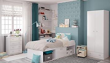 Polini Kids Kinderzimmer Jugendzimmer Set 3 Tlg Bett Schrank