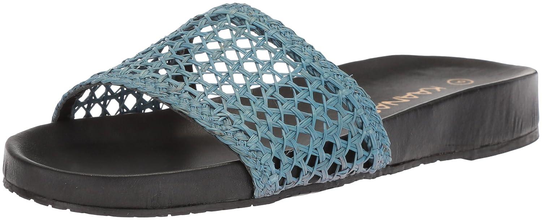KAANAS Women's Akumal Woven Pool Slide Sandal B076FKNRJN 8 B(M) US|Blue