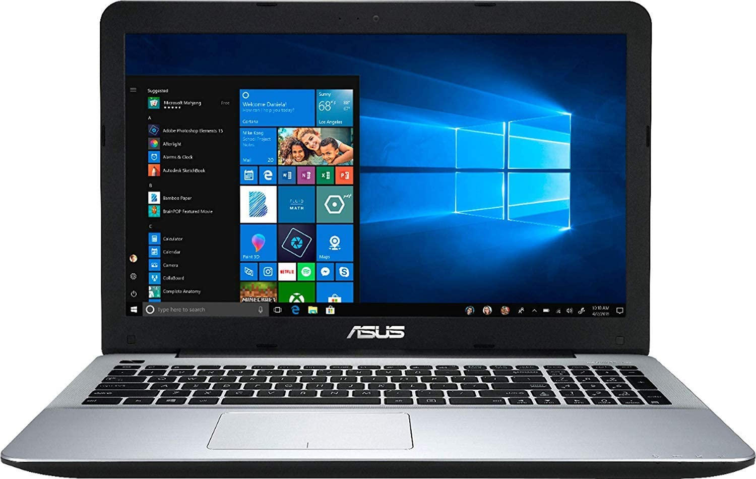 "2019 ASUS 15.6"" High Performance Laptop Computer, AMD Quad-Core A12-9720P Processor up to 3.6GHz, 8GB DDR4 RAM, 128GB SSD, AMD Radeon R7 Graphics, WiFi, Bluetooth, USB 3.0, HDMI, Windows 10 Home"