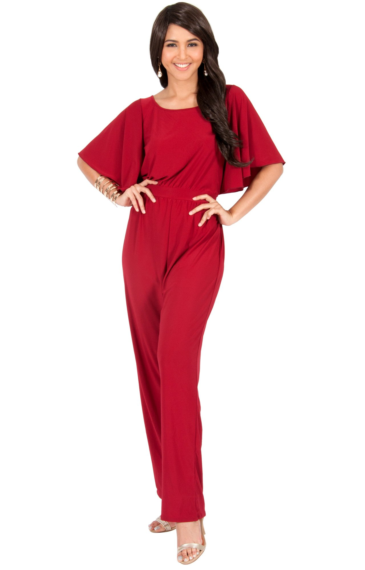 d84d7494486f KOH KOH Plus Size Women Short Sleeve Wide Leg Long Casual Cocktail Pants  One Piece Jumpsuit Jumpsuits Pant Suit Suits Romper Rompers Playsuit  Playsuits