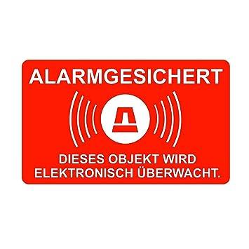 5 pcs pegatinas de alarma, alerta al, número 077 16,7 x 10 ...