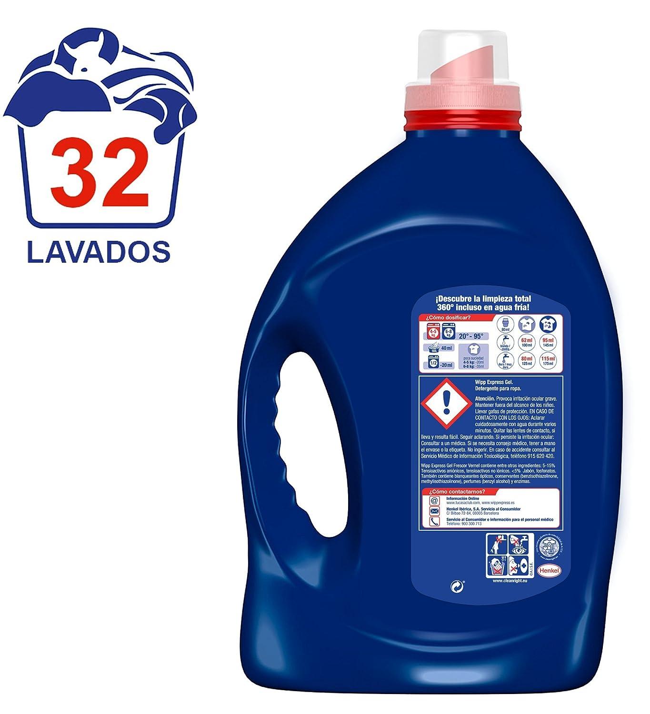 Wipp Express Detergente Gel Azul 32 Lavados Amazon Es  ~ Mejor Detergente Lavadora Calidad Precio