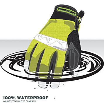 f927fa163f Youngstown Glove 08-3710-10-L Safety Lime Waterproof Winter Glove Large -  Work Gloves - Amazon.com