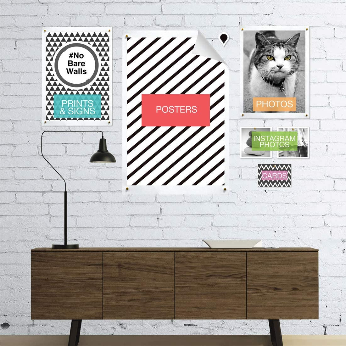GoodHangups Damage Free Magnetic Poster and Picture Hangers Reusable Works on Any Wall As Seen On Shark Tank 16 Pack