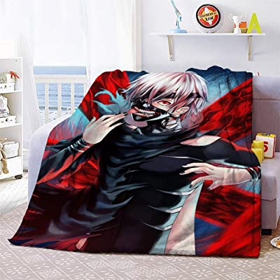 Xungzl Tokyo Ghoul Series/Kinkiken/Anime Cartoon Blanket 3D Printed Blanket Cartoon Anime Characters Soft Plush Flannel Blanket Quilt Anime Fans Otaku Gift Bedding (Size : 100150cm): Home & Kitchen