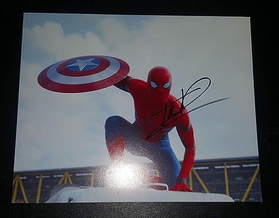 c87984e1fd3f5 Tom Holland - Autographed Signed 8x10 inch Photograph - CAPTAIN ...