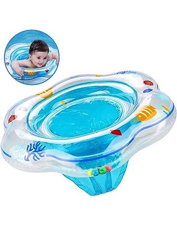 Flotador de anillo de natación de bebé con asiento, anillo de piscina de natación inflable