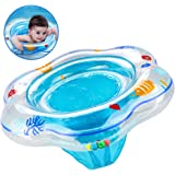 PLOEP Baby Swimming Ring Float Seat, Inflatable Baby Pool Swim Ring Skin-Care PVC, Baby Swimming Ring Float ideal Infant Toddler from 6 Months to 36 Months Aid Training Kids Paddling Pool Blue