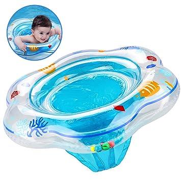 PLOEP Flotador de Anillo de natación de bebé con Asiento, Anillo de Piscina de natación Inflable ...