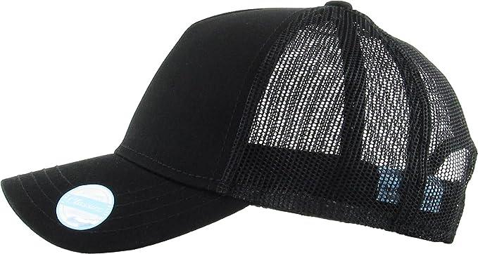 92ada23e7ed Classic 5 Panel Constructed Front Mesh Back Baseball Cap Adjustable  Snapback Hat (Adjustable