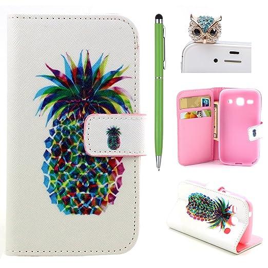 13 opinioni per Samsung Galaxy Ace 4 Custodia pelle, Samsung Galaxy Ace 4 Flip Cover Magnetica,