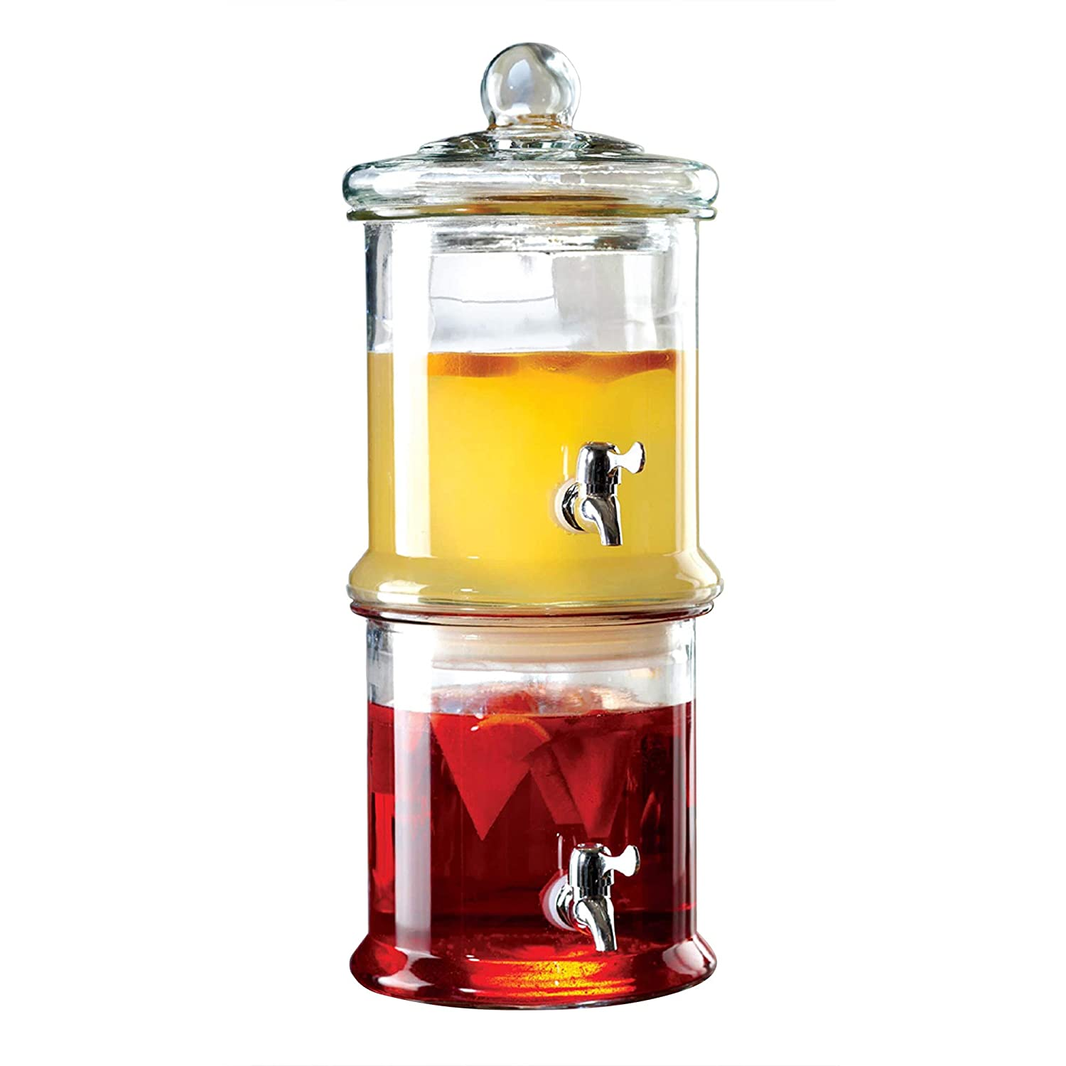 Style Setter 210988-GB Double Stacked Glass Beverage Dispenser-Each Section, 125-Ounce Norfolk