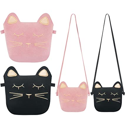 b403986c6d14 Image Unavailable. Image not available for. Color  TOODOO Little Girls  Purses Cute Cat Ears Girl Crossbody Shoulder ...