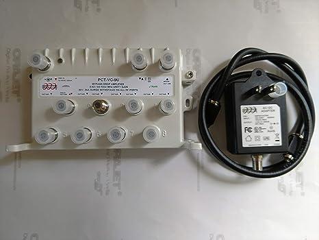 PCT 9 Port Bi-Directional PCT-VC-9U Cable TV Splitter Signal Booster