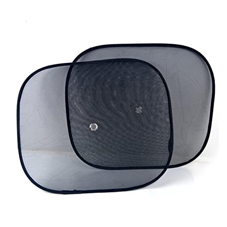 Amazon.com: ibts® 2pcs Negro Side Car Sun Shades Rear Window ...