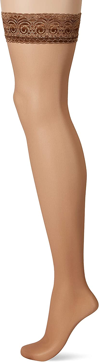 8 DEN Fiore Womens Edith Obsession Hold-up Stockings Tan//Braun