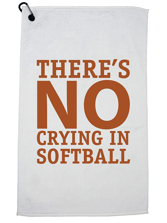 Hollywood Thread There's No Crying in Softball アイコニックグラフィックゴルフタオル カラビナクリップ付き   B07GJZS91R