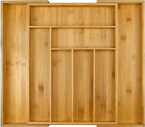 Amazon.com: Organizador de cajones ampliable de bambú ...