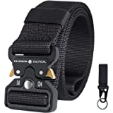 Fairwin Tactical Belt, Military Utility Belt Nylon Web Rigger Belt with Heavy-Duty Quick-Release Metal Buckle for Men…