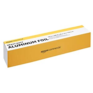 "AmazonCommercial Heavy Duty Aluminum Foil, 18"" X 500'"