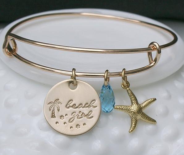 Amazoncom Beach Bracelet Beach Girl Bracelet Nautical Bracelet