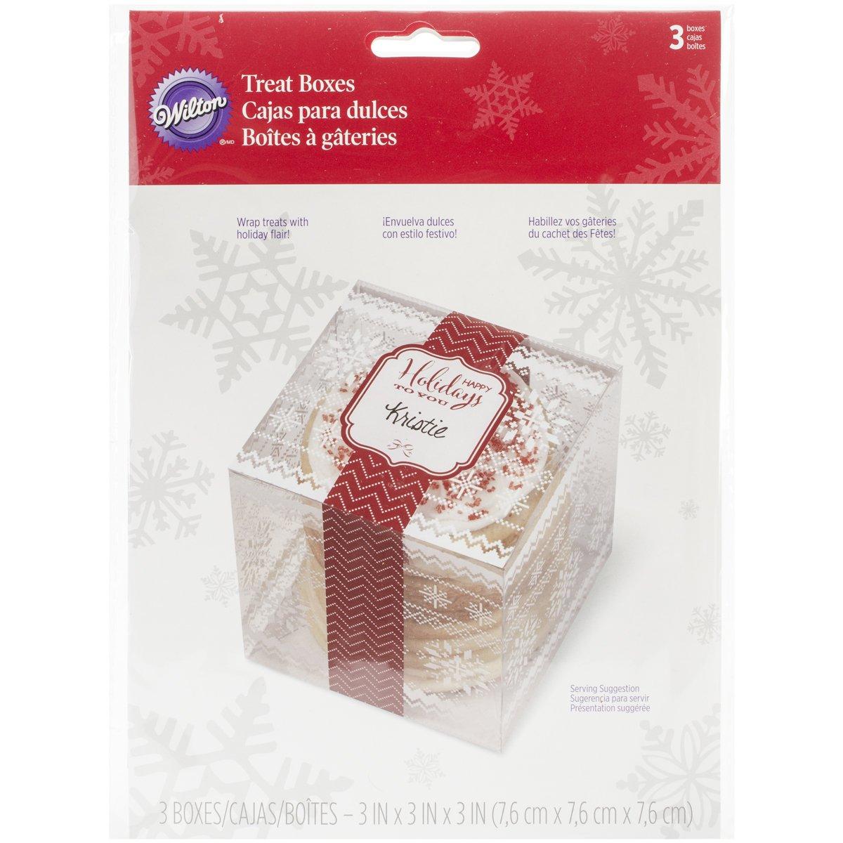 Wilton 3-Piece Christmas Holiday Sweet Swap Clear Treat Box Set: Amazon.es: Hogar