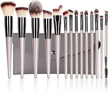 Set de Brochas Maquillaje Profesional 14 Piezas VACNITE Cerdas ...