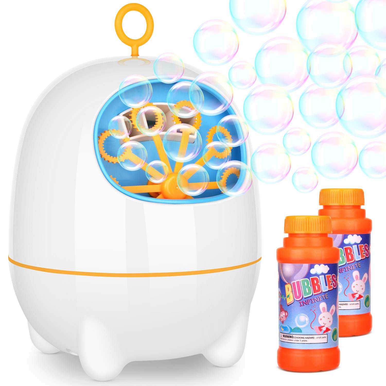 Bubble Machine BATTOP Electronic Bubble Maker Powered by USB Charging With Two Speed Settings for Kids Party