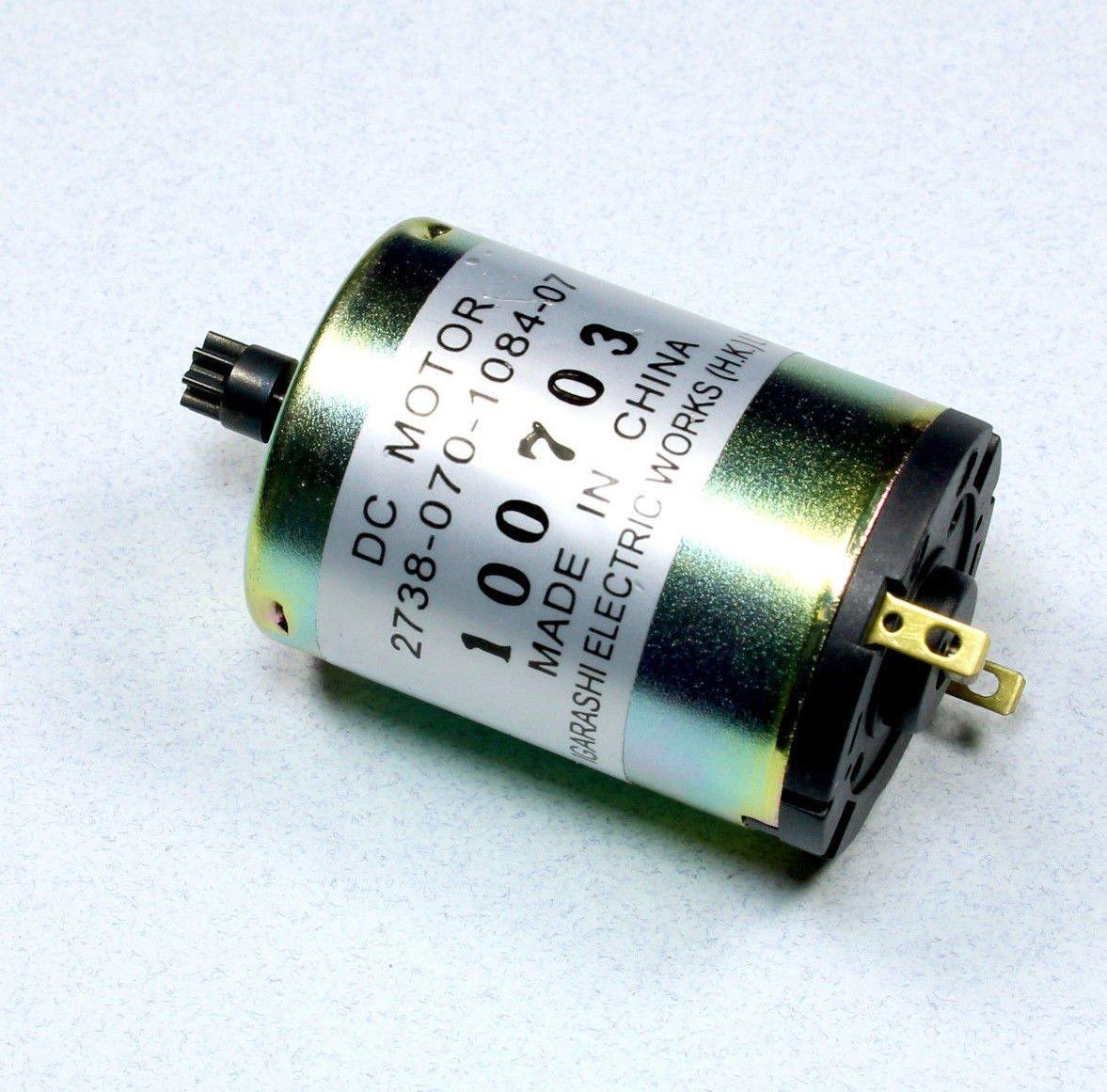 12 V Igarashi DC Motor with 8 Tooth Gear 10000 RPM 12 VDC 10,000 RPM