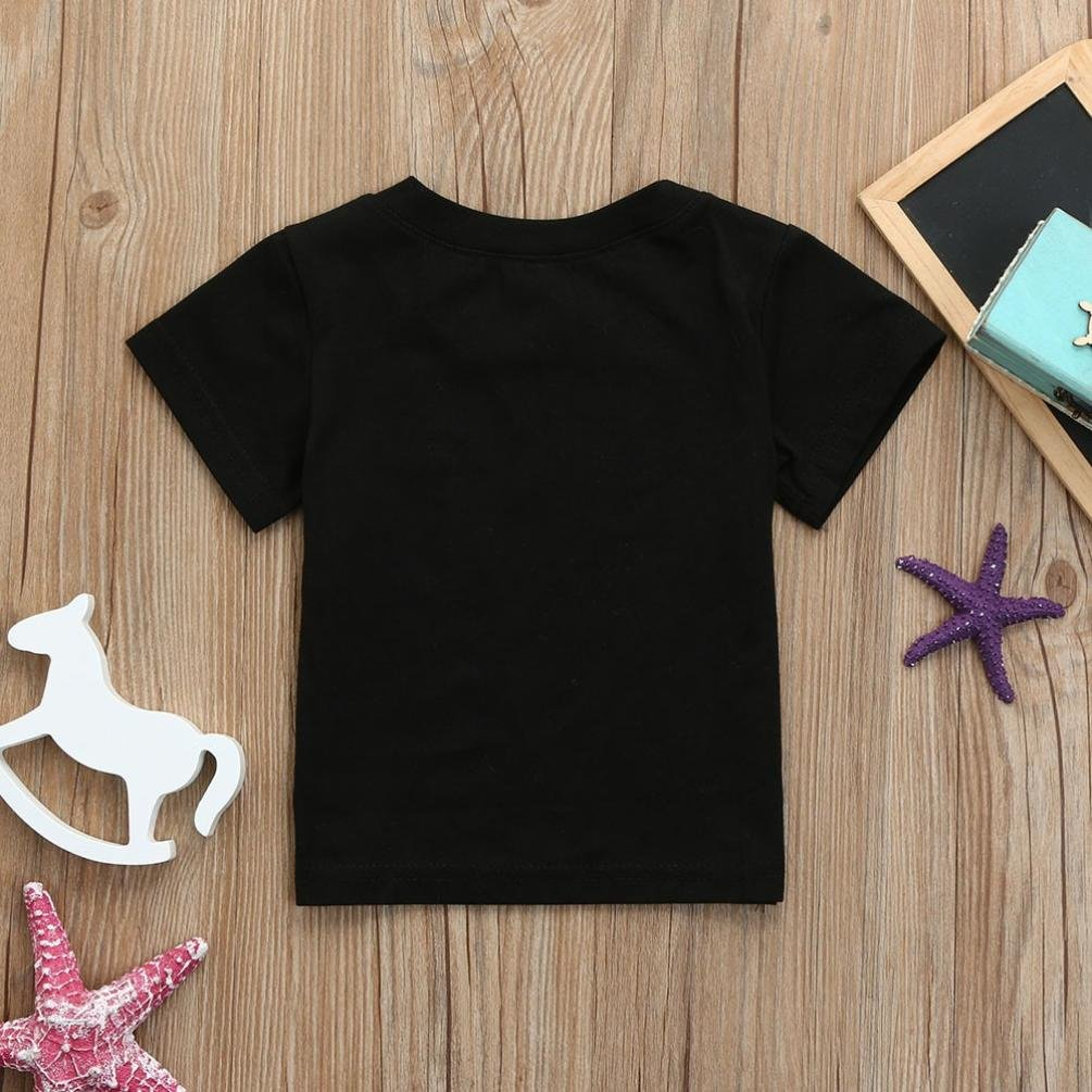 Lavany Baby Blouse,Toddler Boys Girls Short Sleeve Letter Tops for 0-24 Months